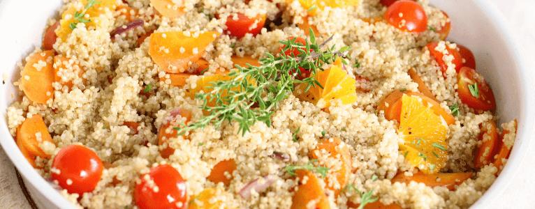 Quinoa ist eine gesunde Speise auf der Arbeit