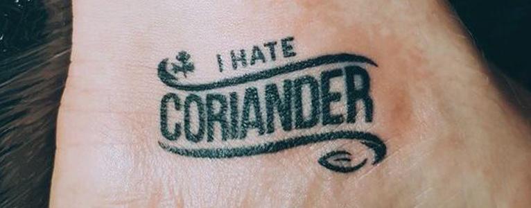coriander tattoo