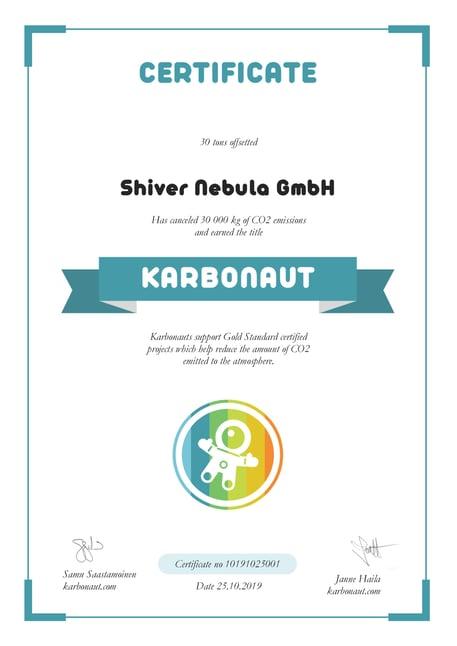 Karbonaut certificate