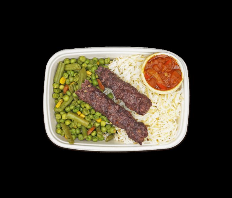 Gegrillter Adana Kebab