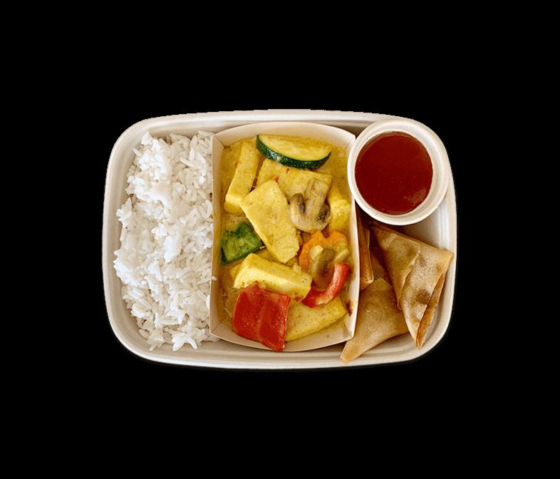 Tofu Kokos-Curry mit Reis