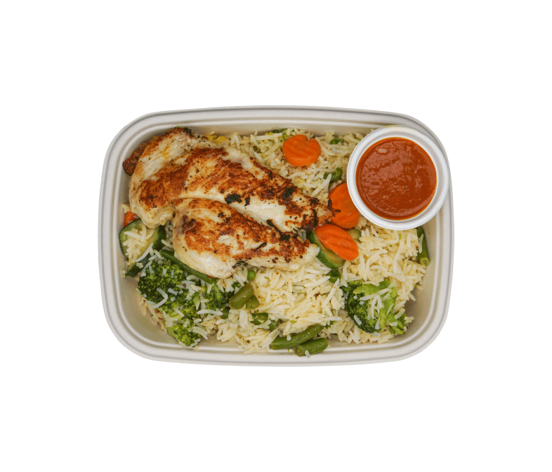 Chicken Fillet on Vegetable Rice