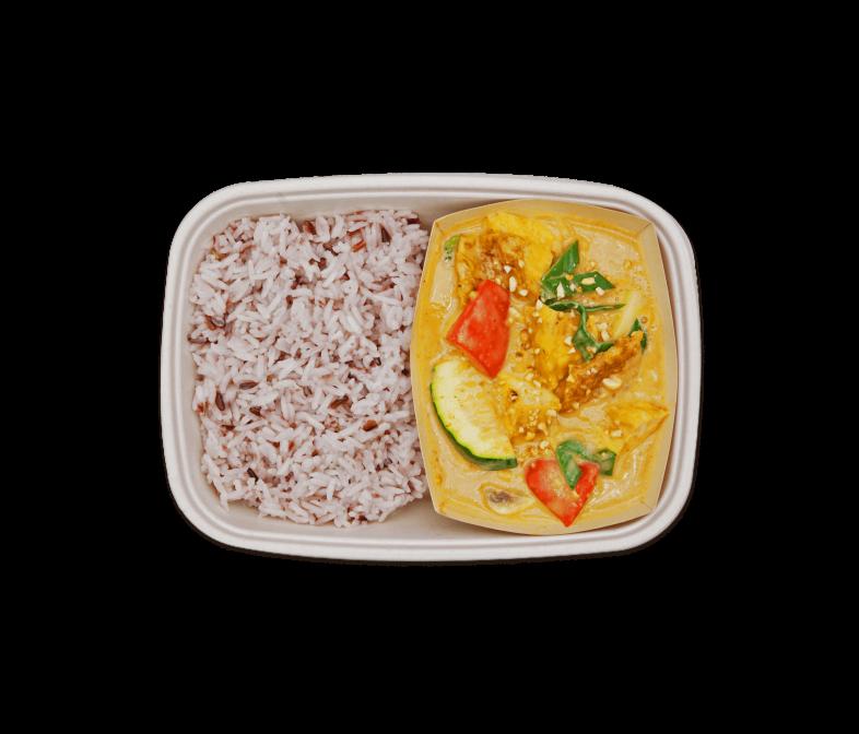 Erdnuss Curry mit Seitan