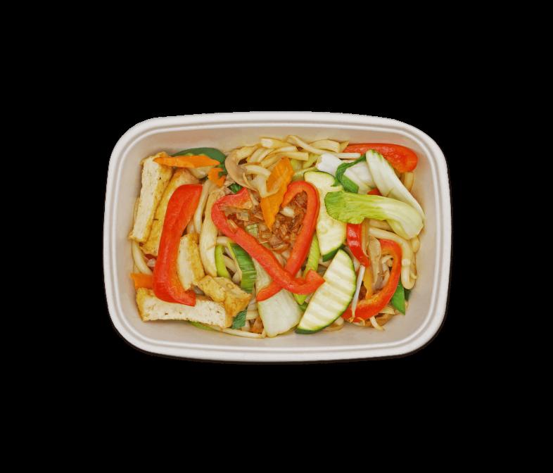 Gebratene Udon Nudeln mit Tofu