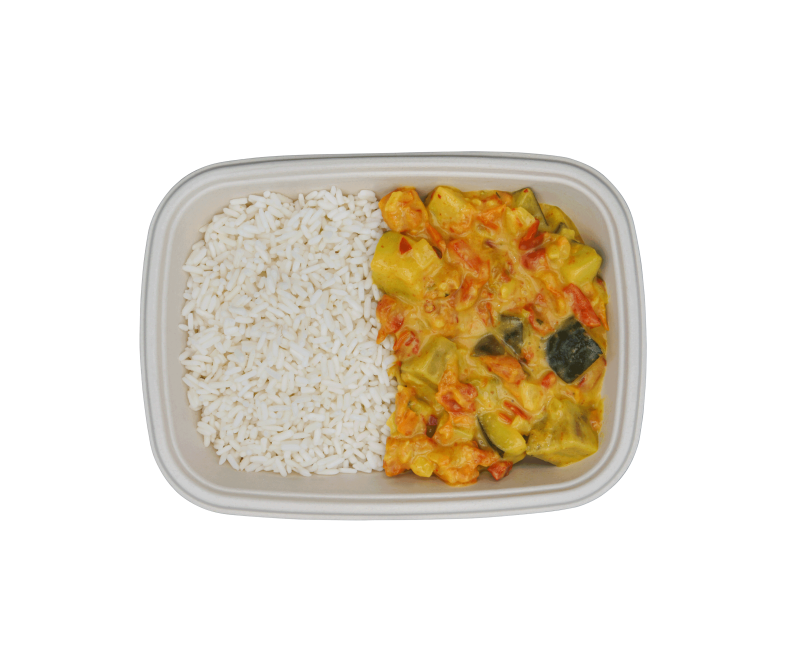 Gelbes Gemüse Curry