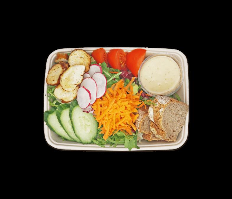 Gemischter Salat mit Bretzn Croutons