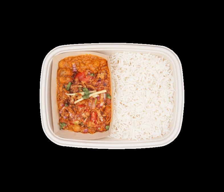Kichererbsen in Tomaten-Zwiebel Masala
