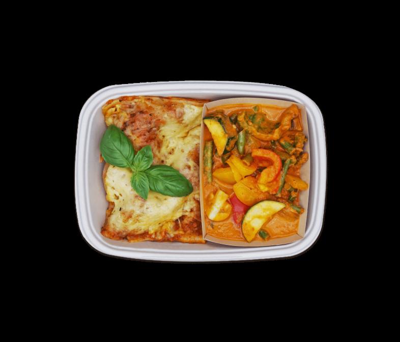 Lasagne mit Gemüse in Tomatensauce